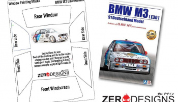 BMW M3 E30 Window Painting Masks (Beemax) - Zero Paints