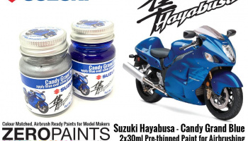 Suzuki Hayabusa - Candy Grand Blue Paint Set 2x30ml - Zero Paints