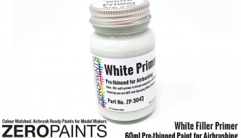 Airbrushing White Primer/Micro Filler 60ml - Zero Paints