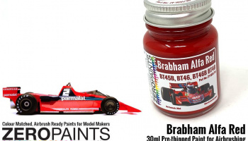 Brabham Alfa Red Paint - BT45B, BT46, BT46B BT48 etc 30ml - Zero Paints