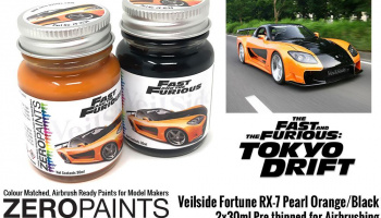 Veilside Fortune RX-7 Pearl Orange/Black Paint Set 2x30ml - Zero Paints
