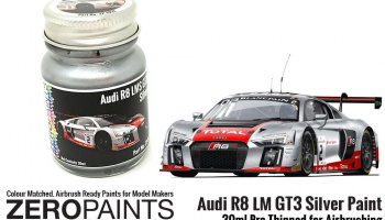 Audi R8 LM GT3 Silver Paint 30ml - Zero Paints