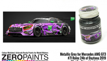 Mercedes AMG GT3 #71 Rolex 24h of Daytona 2019 Metallic Grey 30ml - Zero Paints