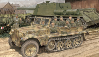 SD.KFZ.10 AUSF.B 1942 PRODUCTION (SMART KIT) (1:35) Model Kit military 6731 - Dragon