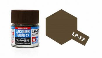 LP-17 Linoleum Deck Brown Flat 10ml - Tamiya