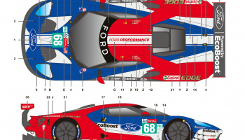 Ford GT 24LM 2019 - SKDecals