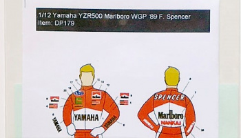 Yamaha YZR500 Marlboro '89 Freddie Spencer Rider Decal for Tamiya - Decalpool