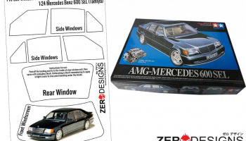 Mercedes Benz 600SEL Coupe Pre Cut Window Painting Masks (Tamiya) - Zero Paints