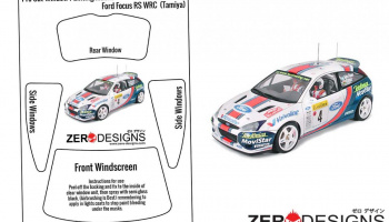 Ford Focus RS WRC Pre Cut Window Painting Masks (Tamiya) - Zero Paints
