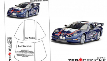 Corvette C5-R Pre Cut Window Painting Masks (Revell) - Zero Paints