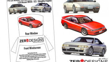 Nissan 180SX - S13 - Sileighty Pre Cut Window Painting Masks (Fujimi) - Zero Paints