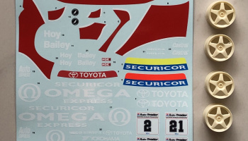 Toyota Carina ST191 BTCC 93 Team Securicor Instruction - SKDecals