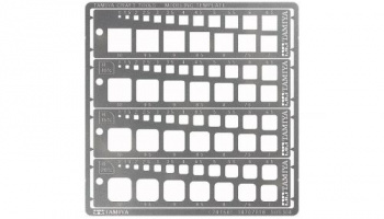 Engraving template, squares 1-10 mm - Tamiya