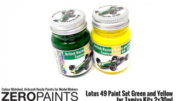 Lotus 49 Paint Set - 30ml Green & 30ml Yellow (Tamiya) - Zero Paints