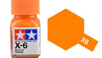X-6 Orange Enamel Paint X6 - Tamiya