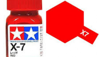 X-7 Red Enamel Paint X7 - Tamiya