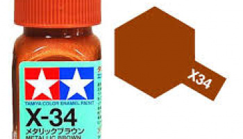 X-34 Metallic Brown Enamel Paint X34 - Tamiya