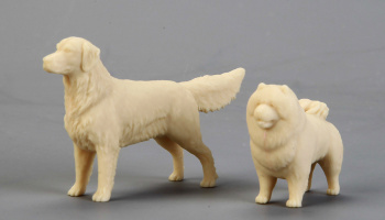 Adorable Pet (Golden Retriever&Chow Chow) 1/24 - Hobby Design