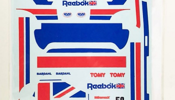 Nissan Skyline R31 GTR-S Reebok #50 Gr. A '89 Decal for Tamiya / Fujimi - Decalpool