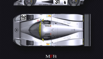 Mercedes C11 LM 1991 - Model Factory Hiro