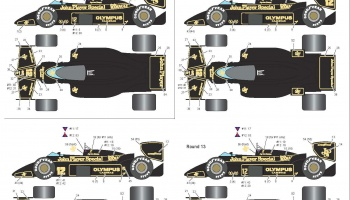 Decal for 1/20 Lotus 97T JPS Team for Fujimi #90640 / 90740 - Decalpool