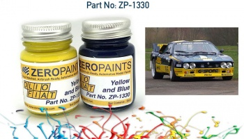 Olio Fiat - Yellow and Blue Paint Set 2x30ml - Zero Paints