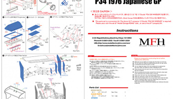 Conversion Parts Set : P34 1976 Japanese GP 1:12