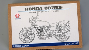 Honda CB750F Detail-up Set For T 14066(PE+Metal parts+Resin+Metal Logo)- Hobby Design