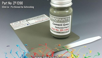 Cement Grey Textured Paint - 60ml (Engines, Interiors etc) - Zero Paints