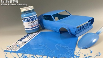 Ice Blue Pearl Paint for Liberty Walk GC111 Skyline (Ken Mary) 60ml - Zero Paints