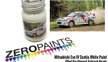 Mitsubishi Evo IV Scotia White Paint 60ml - Zero Paints