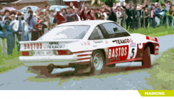 Opel Manta 400 Bastos Texaco Rally Team - Decalcas