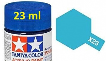 X-23 Clear Blue Acrylic Paint 23ml X23 - Tamiya