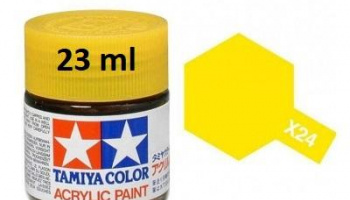 X-24 Clear Yellow Acrylic Paint 23ml X24 - Tamiya
