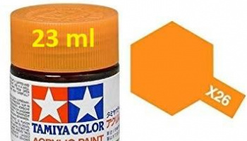 X-26 Clear Orange Acrylic Paint 23ml X26 - Tamiya