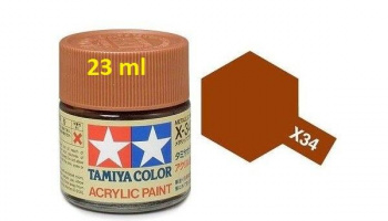 X-34 Metalic Brown 23ml - Tamiya