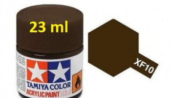XF-10 Flat Brown Acrylic Paint 23ml XF10 - Tamiya