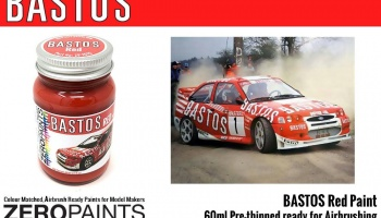 Bastos Red Paint for Bastos Sponsored Cars 60ml - Zero Paints
