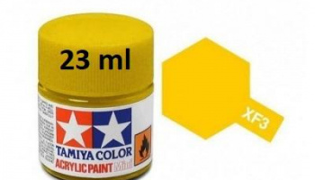 XF-3 Flat Yellow Acrylic Paint 23ml XF3 - Tamiya