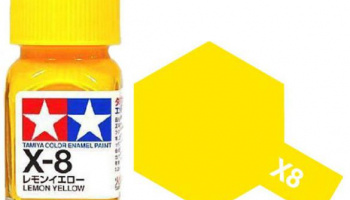 X-8 Lemon Yellow Enamel Paint X8 - Tamiya
