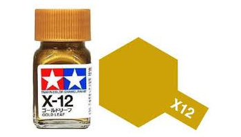 X-12 Gold Leaf Enamel Paint X12 - Tamiya