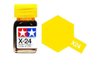 X-24 Clear Yellow Enamel Paint X24 - Tamiya