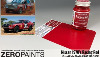 Racing Red Nissan 1970's Safari Rally Bluebird 1600 SSS/240Z Paint 60ml - Zero Paints