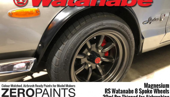 Magnesium Paint for RS Watanabe 8 Spoke Wheels 30ml - Zero Paints