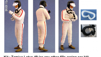 Driver Figure Lotus 49 late 60´s, early70´s 1/12 - GF Models