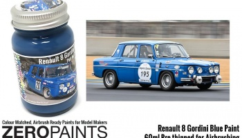 Renault 8 Gordini Blue (Bleu Gordini) Paint 60ml - Zero Paints
