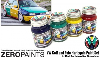 Volkswagen Harlequin Paint Set 4x30ml - Zero Paints