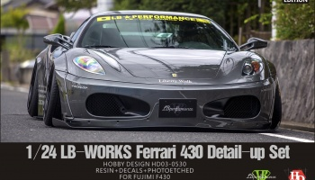 LB-Works Ferrari 430 Wide Body Kit For Fujimi F430 (Resin+Metal Wheels+PE+Decals+Metal parts+Metal parts) - Hobby Design