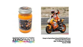 Orange for Special Repsol Honda RC212V MotoGP Livery from Aragon 2011 Casey Stoney Paint 60ml - Zero Paints