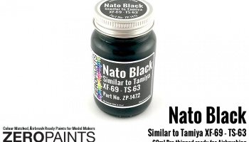 Nato Black Similar to Tamiya XF-69 - TS-63 - Zero Paints